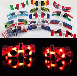 ab642cb6826 14.5 10 3cm LED flag glasses Cool American Flag Sunglasses USA Patriotic  Design for 4th of July Party Props