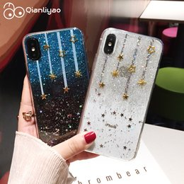 $enCountryForm.capitalKeyWord NZ - Qianliyao For Iphone Xs Max Xr Case Glitter Meteor Star Phone Cases For Iphone 6 6s 7 8 Plus X Silicone Transparent Soft Cover