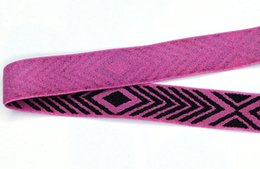$enCountryForm.capitalKeyWord Australia - DIY Nylon webbing knitted elastic decoration trim fabric purple woven for bra high quality 16mm wide factory straps custom SCS1785-16B1