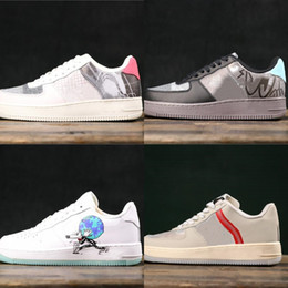 $enCountryForm.capitalKeyWord Australia - Good Quality 1 Flyleather Steve Harrington Earth Day Designer Skateboard Shoes Light Soft Pink Sail Low One Fashion Sneakers Come With Box