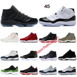 5460ca76957b 11 chaussures de basket-ball Concord 45 teinte platine casquette et robe  Space Jam gagner comme 96 designer chaussures hommes femmes sport baskets  taille ...