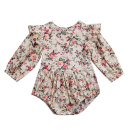 $enCountryForm.capitalKeyWord UK - Fashion 2018 Newborn Baby Girl Floral Ruffles Long Sleeve Romper Jumpsuit Outfits Clothes Baby