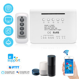 $enCountryForm.capitalKeyWord Australia - eWeLink 4CH WIFI Switch Module RF 433MHz 4 Gang Wireless Smart Switch + 1PCS 4 Button Remote Controller Smart Home