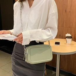 Ladies Sling Handbags Australia - Litthing Mini Women Messenger Crossbody Bag 2019 New Small Square Bag Sling Shoulder Leather Handbags Candy-colored Ladies Purse
