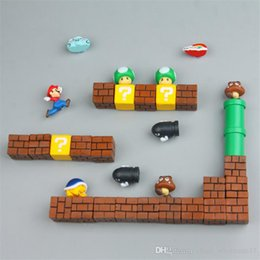 Magnetic Games Australia - Super Mario DIY Fridge Refrigerator Magnet TV FC Childhood Game Japan Cartoon Gaming Cartoon 3D Ice Box Paster Icebox Sticker