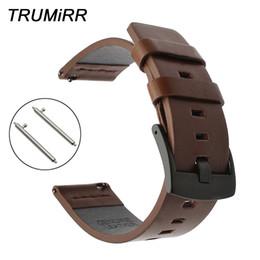 $enCountryForm.capitalKeyWord Australia - 22mm Italy Genuine Leather Watchband For Moto 360 2 46mm Men Ticwatch 1 Gear 2 Neo Live Pebble Time Smart Watch Band Wrist Strap Y19052301
