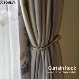 $enCountryForm.capitalKeyWord UK - Aiboully 2pcs set Home Hardware Curtain Tieback European Wall Hook Curtain Buckle, U - Shaped Curtain Hooks Buckle Accessories Y19062803