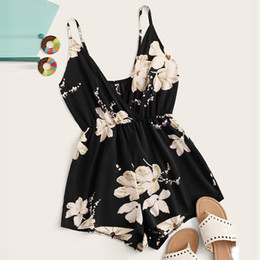 $enCountryForm.capitalKeyWord Australia - 2019 S-XL Women Fashion Sexy Casual V-neck Sling Strapless Back Floral Print Surplice Front Jumpsuit Rompers Drop Ship July26