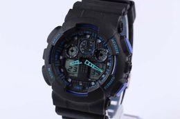 $enCountryForm.capitalKeyWord NZ - 1pcs New GA100 relogio men's sports watches, LED chronograph wristwatch, military watch, digital watch, good gift for men & boy, dropship