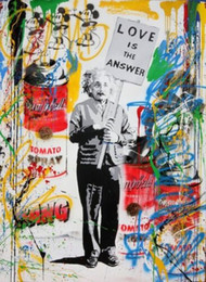 $enCountryForm.capitalKeyWord Australia - Mr Brainwash Abstract Oil Painting On Canvas Home Decor Wall Art Picture Handpainted & HD Printed graffiti art Love is the answer2