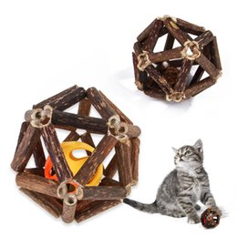 $enCountryForm.capitalKeyWord Australia - Natural Cat snack molar stick Actinidia polygama New wooden tianlingling toy ball worm fruit cat snacks molars clean teeth spit hair toys