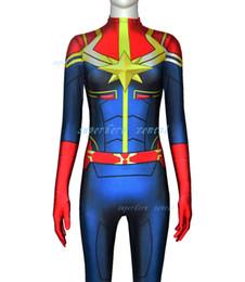 $enCountryForm.capitalKeyWord Canada - Ms captain marvel costume adult kids women girl Movie capitana Marvel Superhero Cosplay Costume halloween Bodysuit Jumpsuits