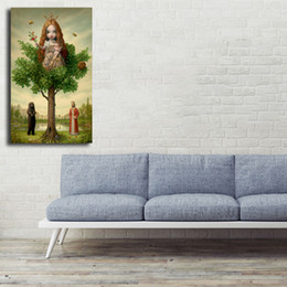 Painting Trees Watercolor Australia - Mark Ryden The Tree Show HD Wall Art Canvas Poster And Print Painting Decorative Picture For Office Living Room Home Decor