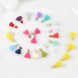 making cotton candy NZ - Free Shipping 16 Colors 1.0cm 50pcs Korean Candy Color Cotton Tassel Earring Accessories Tassel for DIY Hand Made Jewelry Materials