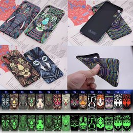 Elephant Phone Cases Australia - TPU Luminous Animal Cases For Samsung A50 Note 9 S9 S10 Plus Case Elephant Tiger Night Glow Slim Soft Phone Case For iPhone XR XS Max