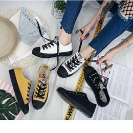 Spring Fall Canvas Shoes Australia - 2019 Spring ladies casual shoes low to help breathable damping non-slip wear-resistant versatile free shipping canvas shoes