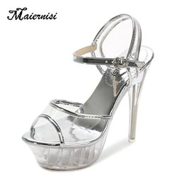 $enCountryForm.capitalKeyWord Australia - Maiernisi High Heels Womens Sandals Transparent Crystal Female Thin Heel Model T Stage Sexy Lady Heeled Shoes Plus Size 35-43 Y19070203