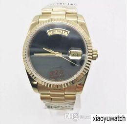 Luxury Big Face Watches Men Australia - luxury watch men automatic rolix DAY DATE Big Black face Mechanics men's watches Sapphire original 18K Gold Stainless steel clasp.