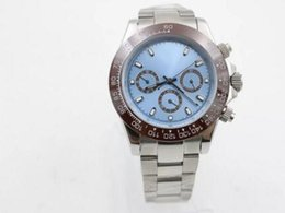 $enCountryForm.capitalKeyWord Australia - high quality Automatic Movenent Perpetual Light Blue Platine Stainless Steel Wrist Mens Watch Sapphire free shipping