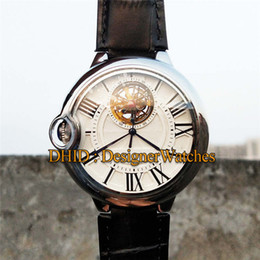 $enCountryForm.capitalKeyWord NZ - Luxury Mens Watches Montre De Luxe Real Tourbillon Mechanical Automatic Watch 43mm 316L Stainless Steel Case Leather Strap Writwatches