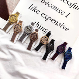 Circular Case Australia - New ladies watch fashion diamond color steel belt case rotating chassis circular women's business casual exquisite fashion bracelet dress ac