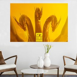 $enCountryForm.capitalKeyWord Australia - Kaiju Rule in New Godzilla King of the Monsters Movie Poster Canvas Painting Oil Framed Wall Art Print Pictures For Living Room Home Decor