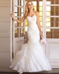$enCountryForm.capitalKeyWord Australia - 2019 Sexy Mermaid Wedding Dresses Sweetheart Ruched Tulle Mermaid Wedding Dress Lace Up White Marry Dresses Bridal Dresses vestido de festa