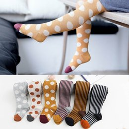 kids girls dresses leggings NZ - Autumn Winter Dots Girls Pantyhose Fashion Kids Leggings stripe cotton girls leggings Baby Tights Baby Pantyhose Dress Socks A8280