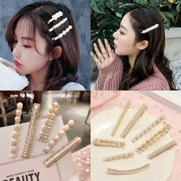 Hair Clip Korean Style Australia - Korean Sweet Clips Headwear Hair Styling Tool Women Fashion Hair Accessories Metal Pearl Hairpins Lady Simple Clip Barrette