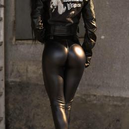 $enCountryForm.capitalKeyWord Australia - Pu Soft Elastic Skinny Pencil Pants Women Autumn Club Fashion Ruched Trousers Push Up Leggings Sexy Punk Pant Girl