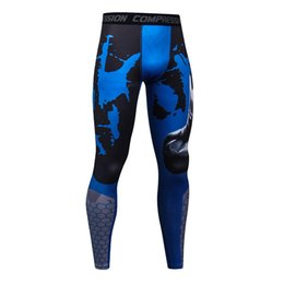 wholesale mens jersey UK - 2018 Camo Mens Compression Pants High Elastic Mens Fitness Clothing Tights Leggings Bottoms