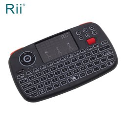 0117ca6ee20 Original Rii i4 Backlit Dual Mode 2.4Ghz Bluetooth Wireless Mini Keyboard  Air Mouse with Touchpad for iPad Pro, iPhone Xs, PC