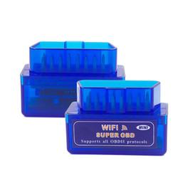 Chevy Wholesale Australia - Super Mini ELM327 WIFI OBD2 Code Reader 25k80 ELM 327 Wifi Scan Tool for IOS Android Smart Phone & Windows