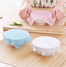 $enCountryForm.capitalKeyWord NZ - New Cute Cartoon Multi-function Cling Film Silicone Bowl Seal Cover Saran Wrap Tableware Cover Gadget Kitchen Accessories