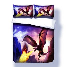 $enCountryForm.capitalKeyWord UK - Dragon Bedding Set Microfiber Family Duvet Cover Set with Pillow Sham AU US EU Size Bedclothes Set