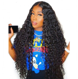 tying machine UK - Lace Front Wig Peruvian Water Wave Hair Wigs Full Lace Human Hair Wigs with Baby Hair for Black Women