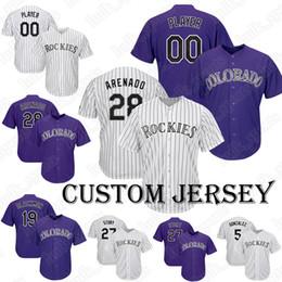 efbef239c Rockies jersey 19 Charlie Blackmon jerseys 28 Nolan Arenado Baseball Custom  jerseys44 Anderson 35 Bettis 26 Dahl
