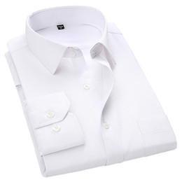 $enCountryForm.capitalKeyWord Australia - 4xl 5xl 6xl 7xl 8xl Large Size Men's Business Casual Long Sleeved Shirt White Blue Black Smart Male Social Dress Shirt Plus SH190722