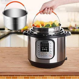 $enCountryForm.capitalKeyWord Australia - Fashion Stainless Steel Steamer Basket With Handle Steaming Vegetables Fruits Eggs New Fashion Stainless Steel Steamer Basket
