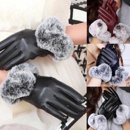 $enCountryForm.capitalKeyWord Australia - Female Fashion Elegant Long PU Leather Gloves Women Full Finger Winter Plus Cashmere Warm Mittens Touch Screen Gloves G138-2