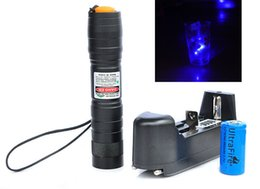 $enCountryForm.capitalKeyWord UK - High Quality 405nm 5mW Violet Blue Beam Laser Pointer Pen + Battery Charger Adjustable Lazer Free Shipping (Model: LED14B)