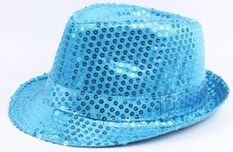 $enCountryForm.capitalKeyWord UK - wholesale 10pcs lot dance Sequined hat Magic play caps woman jazz dance hats