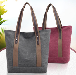 Purple Tote Bags Wholesale Australia - Canvas tote bag beach bag women fasion lightweight mom 2019 large capacity laptop travek tote bag handbag