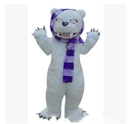 make prop NZ - 2019 Factory direct sale make-up animal cartoon costumes performance props costumes stage white bear zombie bear mascot adult size