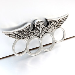 motorcycle stainless steel ring NZ - self-defense Silver defensive Cool Biker Ring men Stainless Steel Rings Motorcycle Engine Vintage Eagle Rock Jewelry For Mens Rings