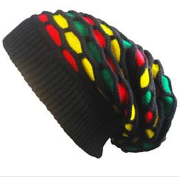 e002555e706a6 2019 new design Fashion Women Men Unisex Warm Winter Skull Knitted Hat  Baggy Beanie Hip-hop Cap crochet wool rainbow grid beanies hat