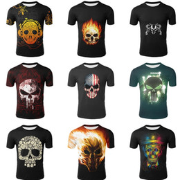 T Shirt Digital Printing Sport Australia - New men's 3D digital printing short-sleeved sports short-sleeved tight T-shirt youth men's fitness quick-drying clothes T8B005