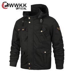 $enCountryForm.capitalKeyWord Australia - WWKK Autumn Winter Tactical Jacket New Mens Plus Size Cotton Bomber Jackets Cargo Flight Jacket Waterproof Army Outwear