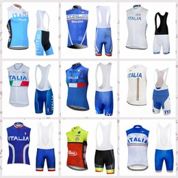 new jersey italy 2019 - NEW Outdoor sports ITALY road Clothing team Cycling Sleeveless jersey Vest bib shorts sets breathable 52206 discount new