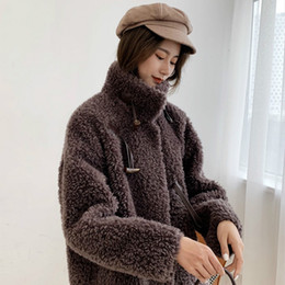 women korean winter parka coat Australia - Real Fur Coat Women Clothes 2019 100% Wool Jacket Korean Sheep Shearing Parka Real Fur Women Autumn Winter Coat 9218 YY2250